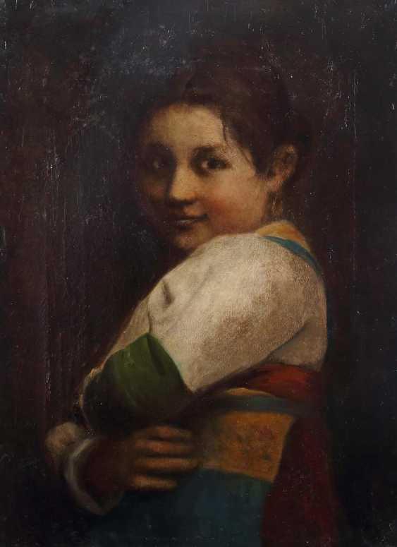 "Portrait painters of the 19th century. Century ""Girl Portrait"" - photo 1"