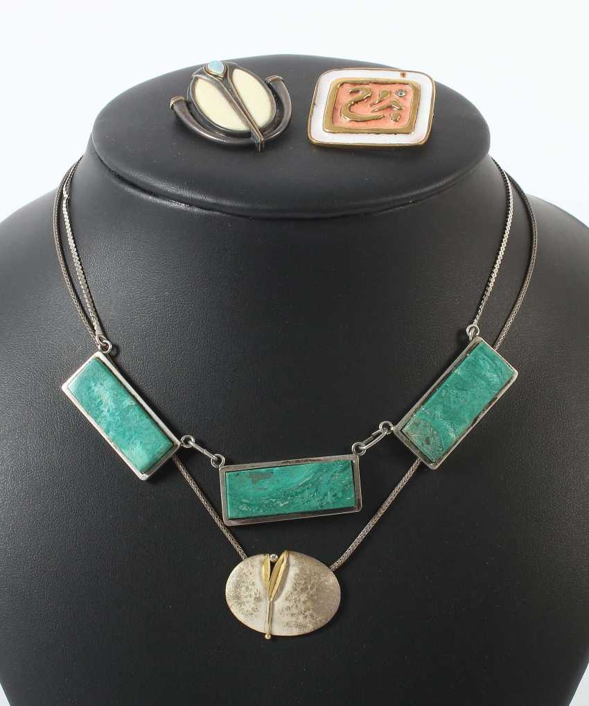 Collection Of Artist Jewelry, Silver/Brass - photo 1