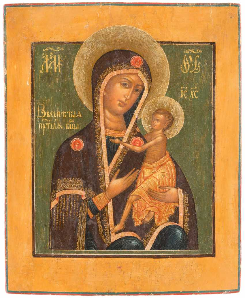 ICON OF THE MOTHER OF GOD 'OVSEPETAJA' (THE GENERAL PRIESENE) WITH APPLIED NIMBEN - photo 2
