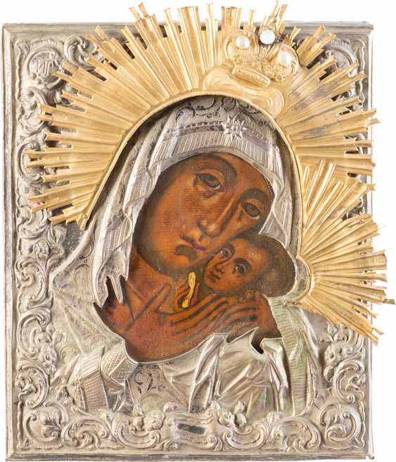 ICON OF THE MOTHER OF GOD KORSUNSKAJA WITH OKLAD - photo 1