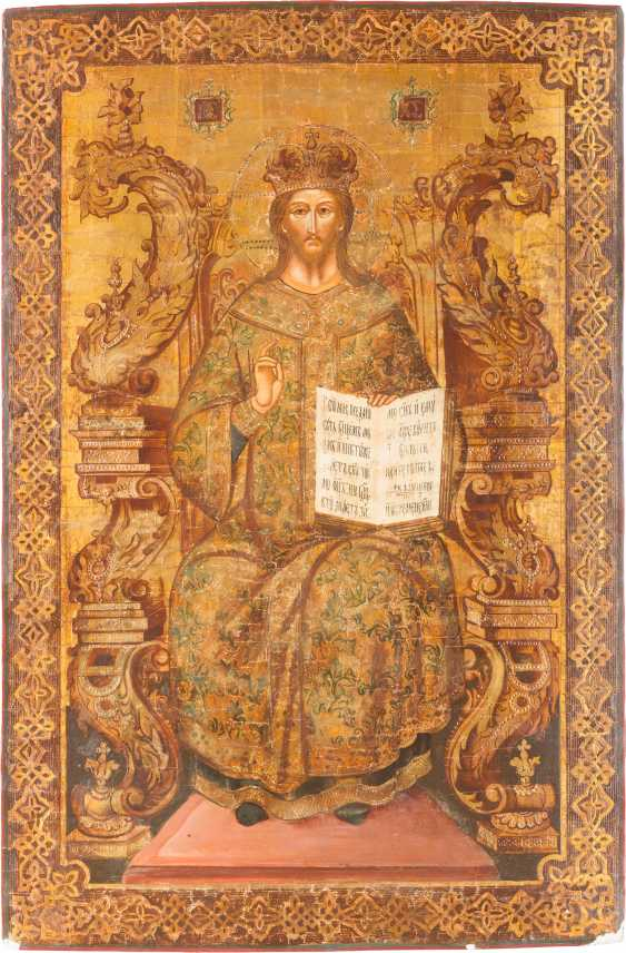 A MONUMENTAL ICON OF CHRIST AS HIGH PRIEST - photo 1