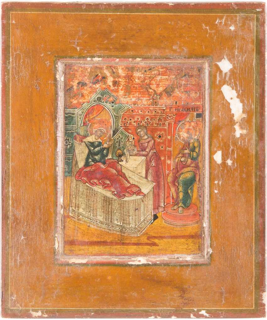SMALL ICON OF THE NATIVITY OF THE MOTHER OF GOD - photo 1