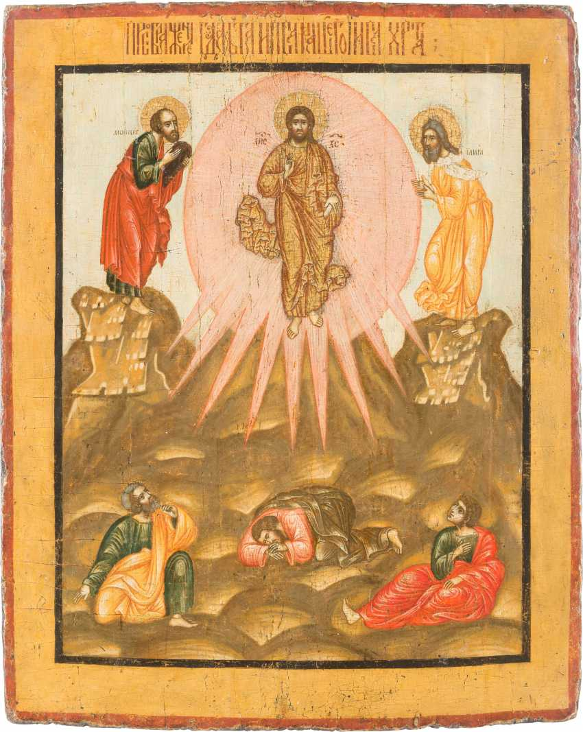 LARGE-FORMAT ICON WITH THE TRANSFIGURATION OF CHRIST - photo 1