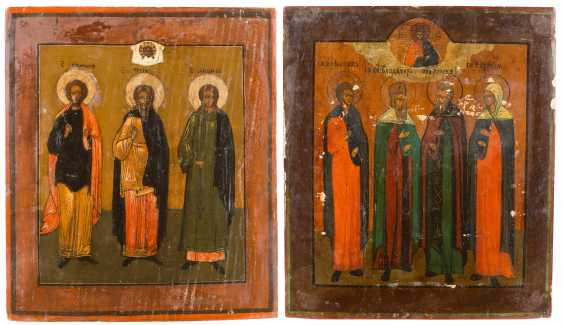 TWO ICONS WITH SELECTED SAINTS - photo 1