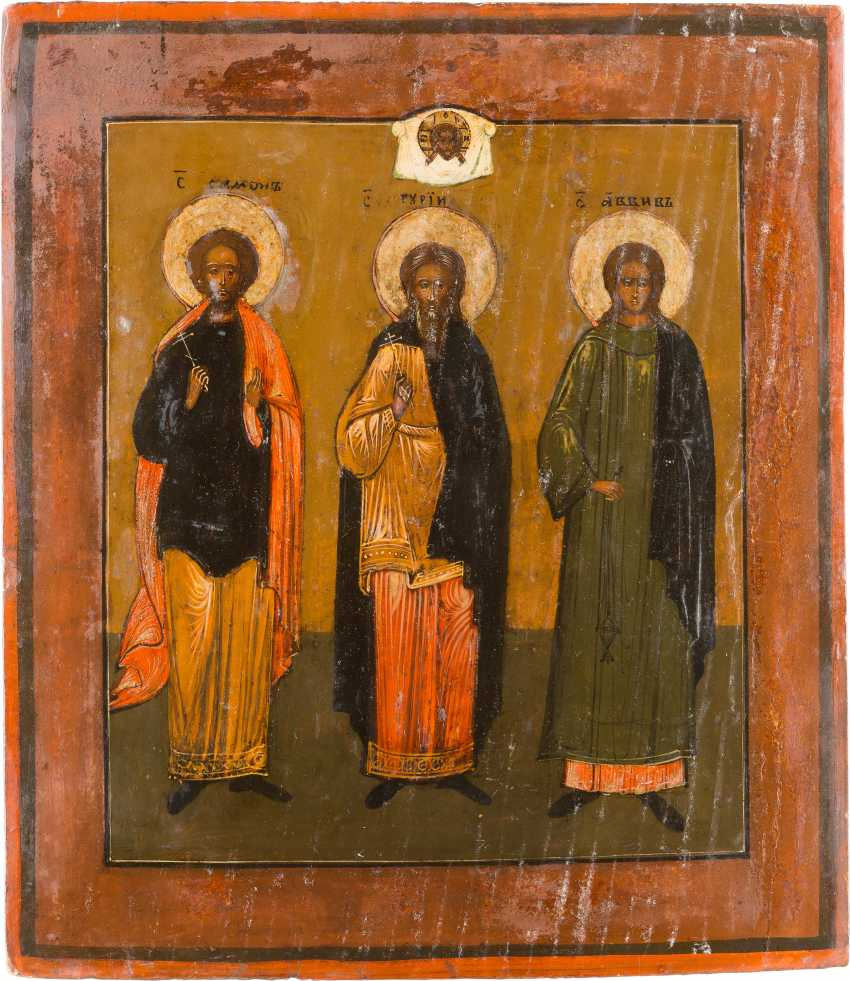 TWO ICONS WITH SELECTED SAINTS - photo 2
