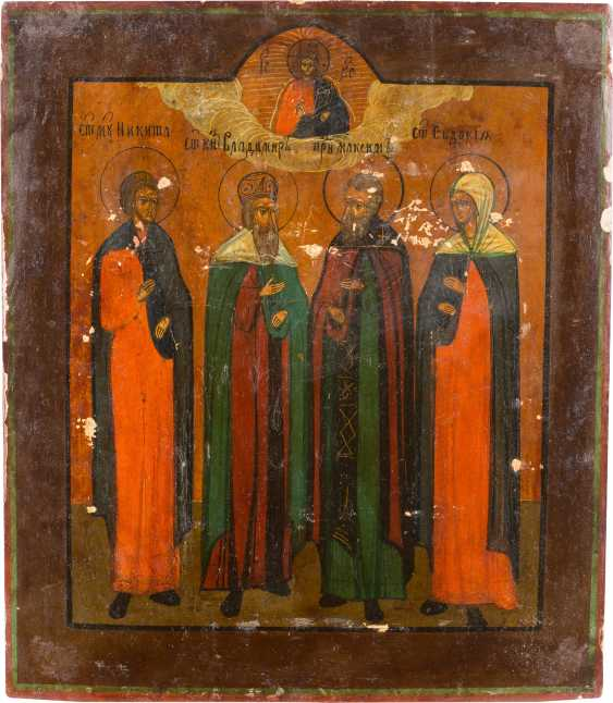 TWO ICONS WITH SELECTED SAINTS - photo 3