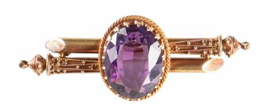 BROOCH WITH AMETHYST - photo 1