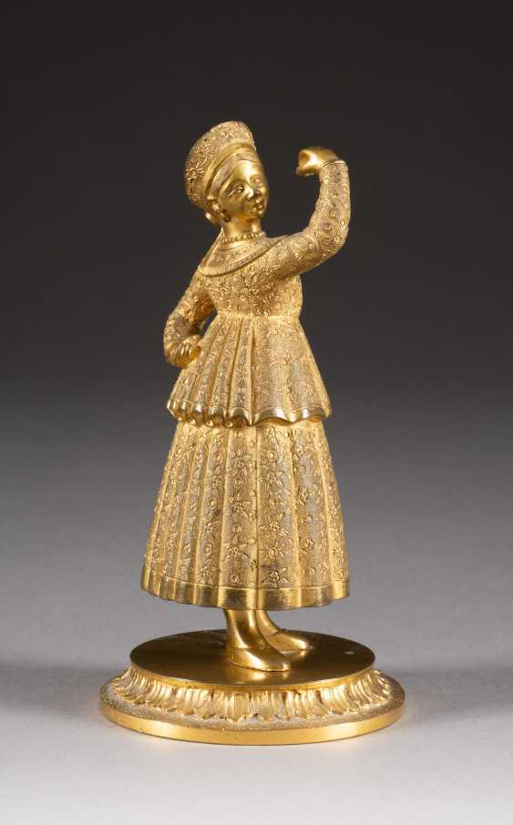 TABLE BELL IN THE FORM OF A DANCING PEASANT - photo 1