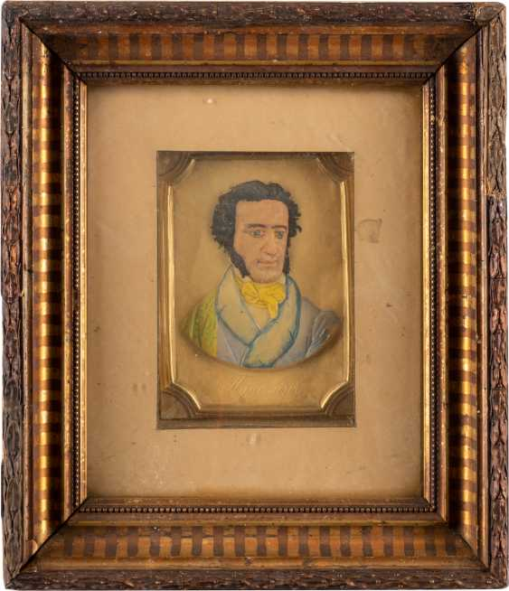 THE WAX IMAGE WITH THE PORTRAIT OF THE POET ALEXANDER PUSHKIN - photo 1