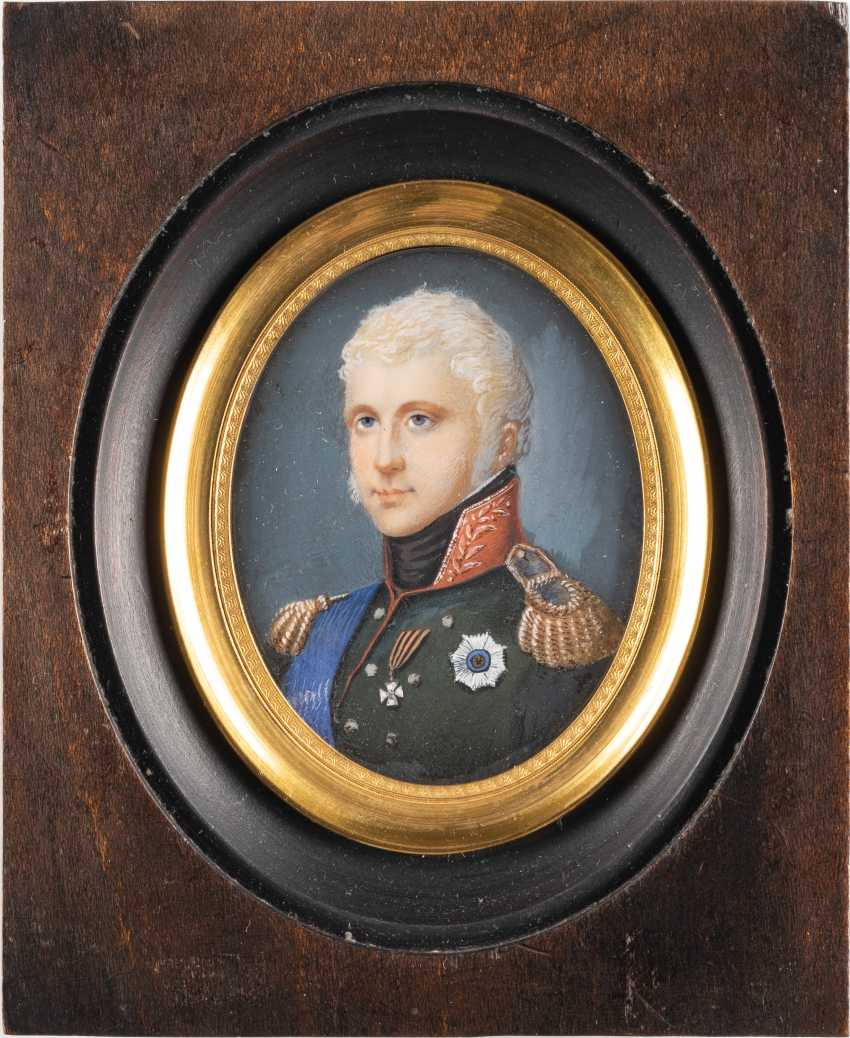 MINIATURE WITH THE PORTRAIT OF ALEXANDER I. OF RUSSIA - photo 1