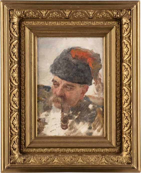 RUSSIAN MASTER Active around 1900, Ukrainian Cossack with a pipe - photo 2