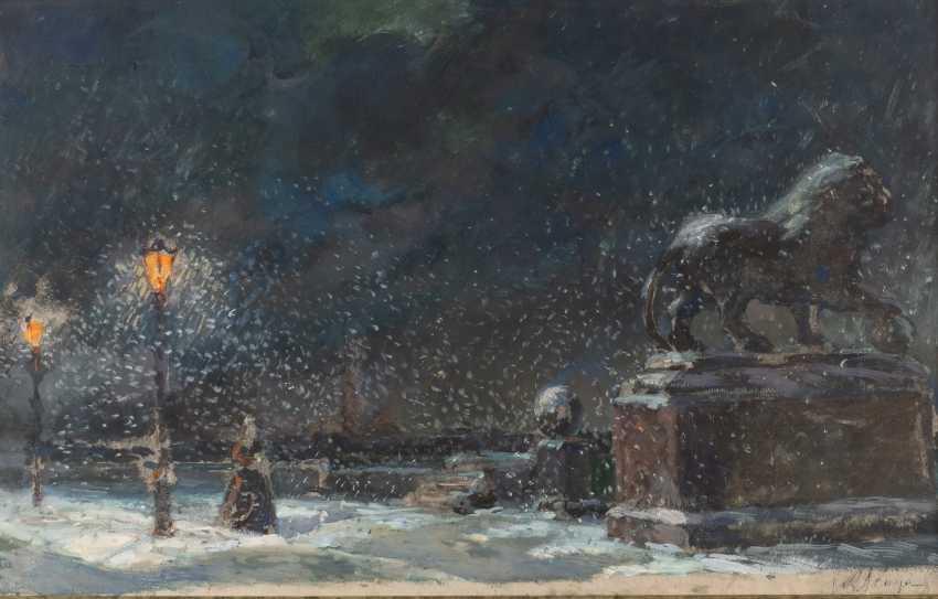 ALEXANDER Nikolayevich BENOIS 1870 St. Petersburg - 1960 Paris study to Pique-Dame 'Lisa on the Neva' - photo 1