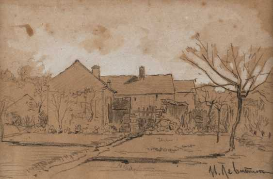 ISAAC ILYICH LEVITAN 1860 Kybartai Lithuania - 1900 Moscow Small study with farmhouses - photo 1