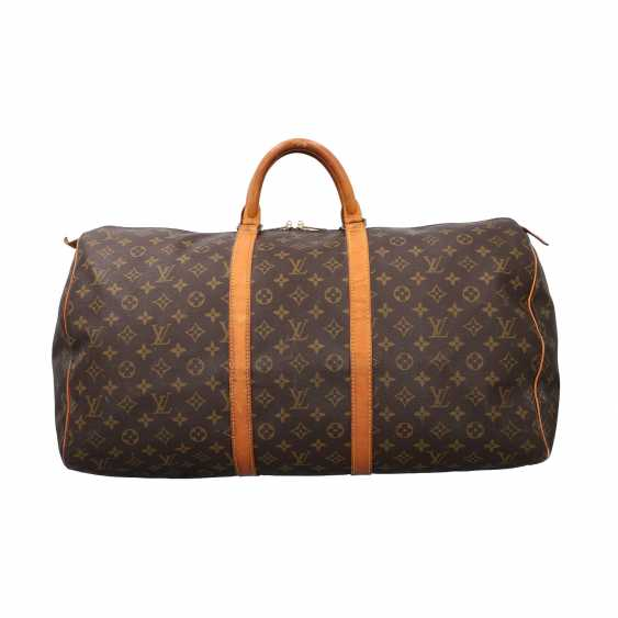 """LOUIS VUITTON weekend bag """"KEEPALL 55"""", collection: 1990, current price: 1.140,-€. - photo 1"""
