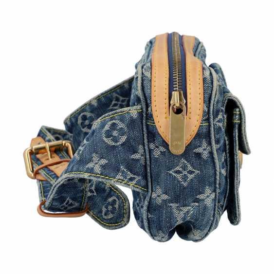 "LOUIS VUITTON waist bag, ""BUM BAG DENIM BLUE"", collection: 2007. - photo 3"