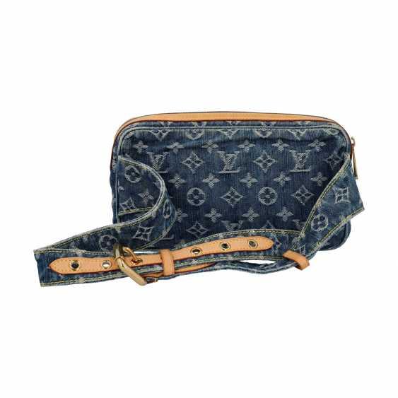 "LOUIS VUITTON waist bag, ""BUM BAG DENIM BLUE"", collection: 2007. - photo 4"