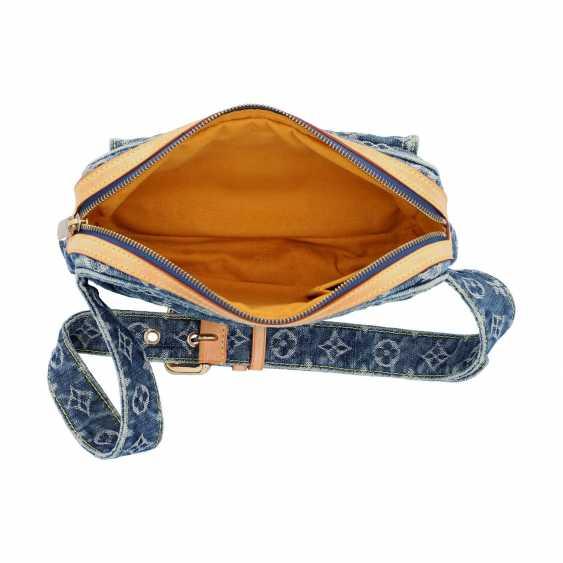 "LOUIS VUITTON waist bag, ""BUM BAG DENIM BLUE"", collection: 2007. - photo 6"