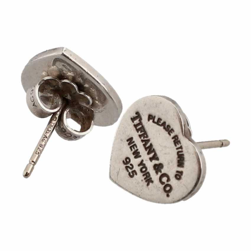 "TIFFANY & CO stud earrings ""MINI heart earrings"", current new price: 200,-€. - photo 3"