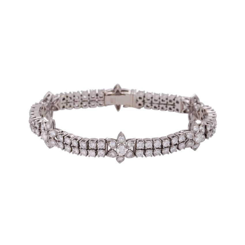 Bracelet with brilliant-cut diamonds, together approx. 6,9 ct, - photo 1