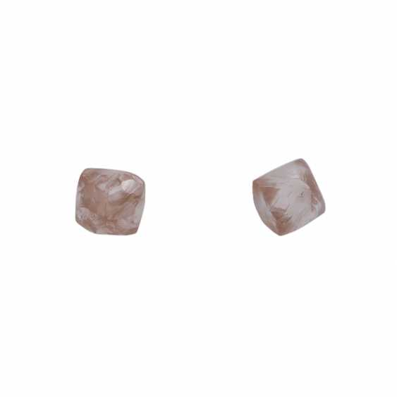2 loose rough diamonds, together CA. 2 ct - photo 1