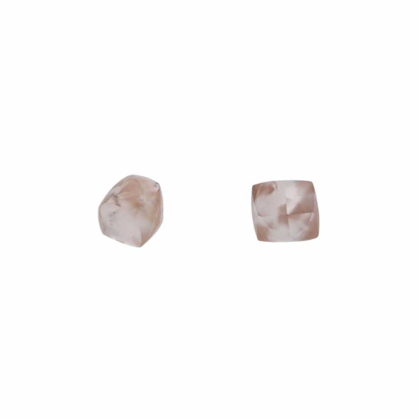2 loose rough diamonds, together approx 1.9 ct, - photo 1