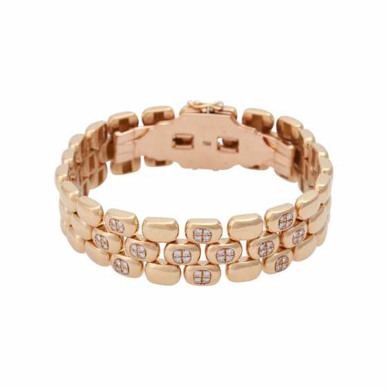 Bracelet set with 48 brilliant-cut diamonds, together approx 0,48 ct, - photo 1