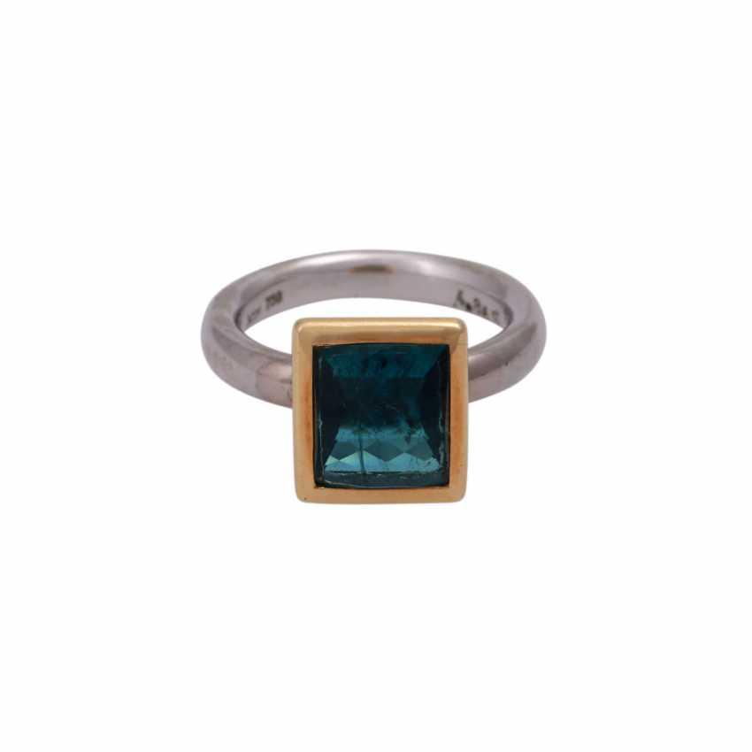 JACOBI Ring mit Indigolith 4,86 ct, - photo 1