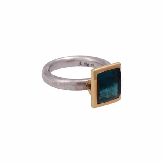 JACOBI Ring mit Indigolith 4,86 ct, - photo 2