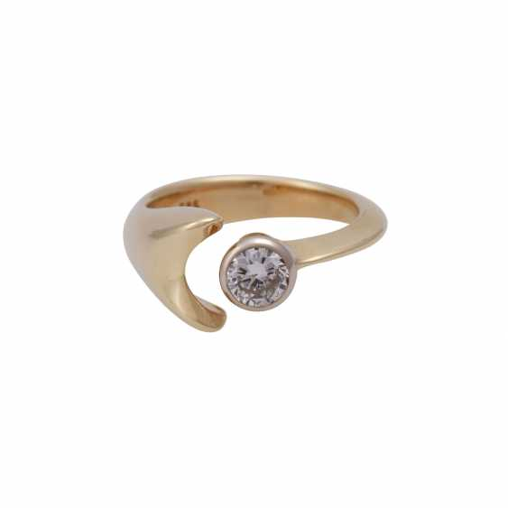 Ring with brilliant 0.3 ct, - photo 1