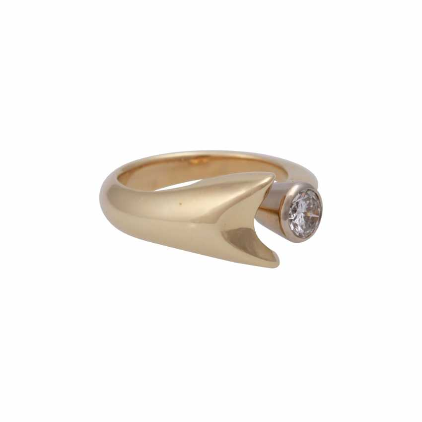 Ring with brilliant 0.3 ct, - photo 2