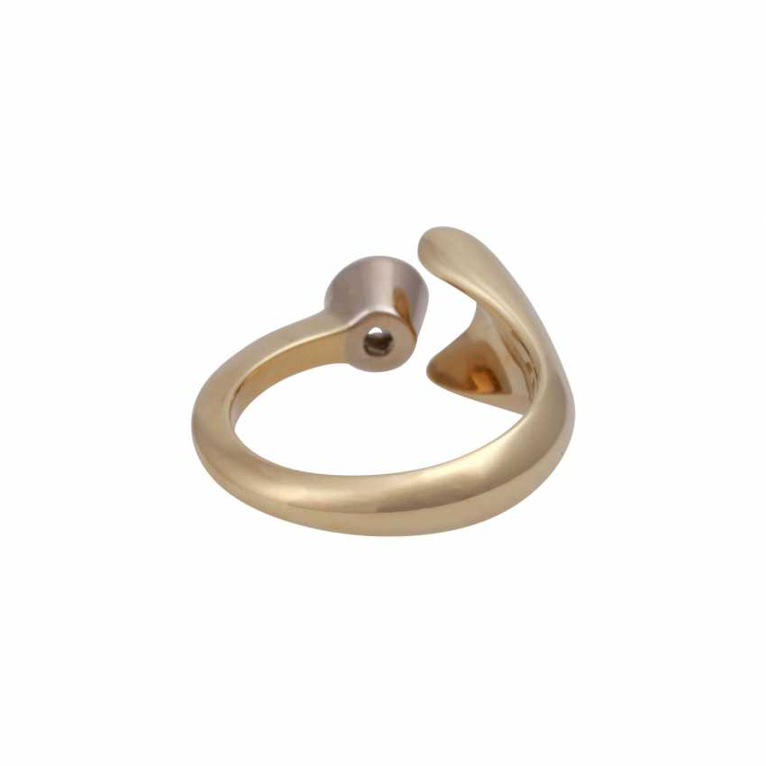 Ring with brilliant 0.3 ct, - photo 4