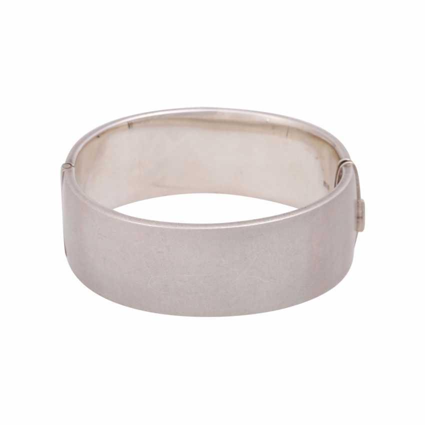 English Silver Bangle, - photo 3