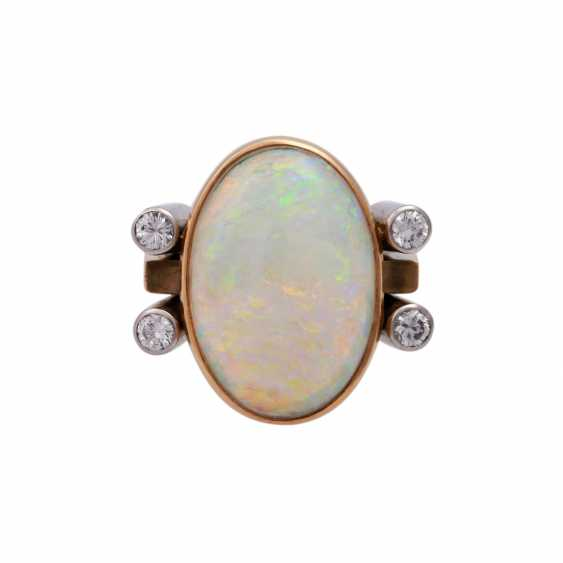 Ring with white Opal - photo 1