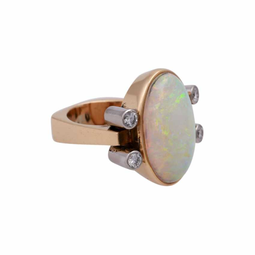 Ring with white Opal - photo 2