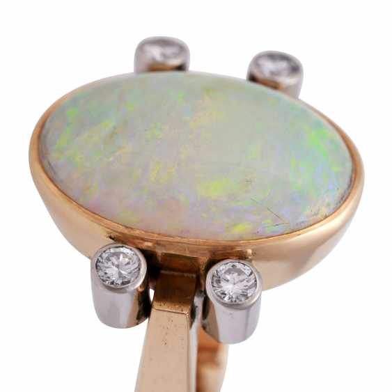 Ring with white Opal - photo 5