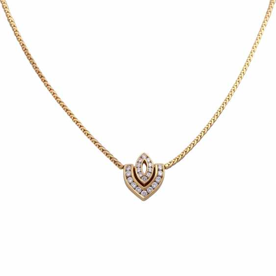 Necklace with 21 brilliant-cut diamonds, together approx 0,7 ct, - photo 2