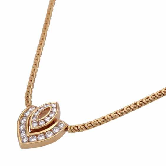 Necklace with 21 brilliant-cut diamonds, together approx 0,7 ct, - photo 4