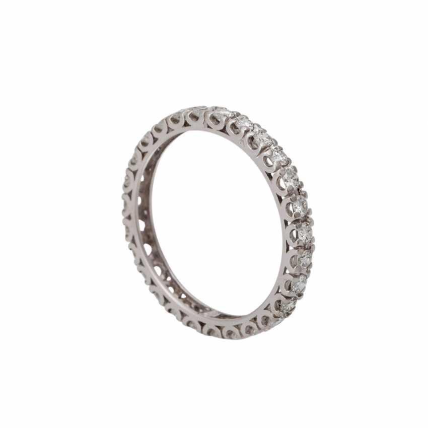 Memory Ring mit Brillanten zusammen ca. 1 ct, - Foto 4