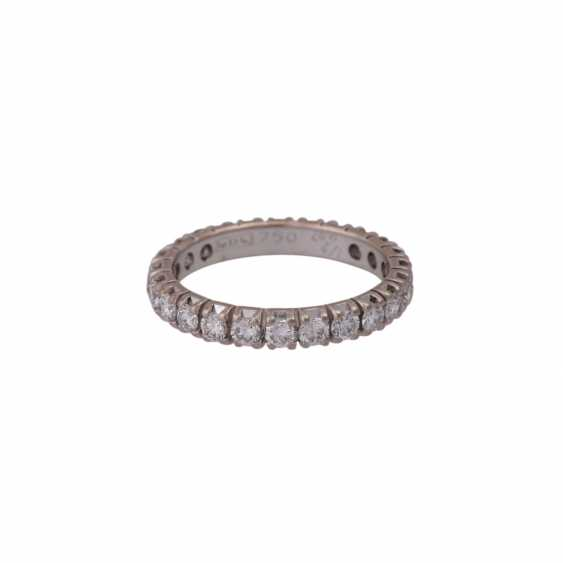 Memory Ring with brilliant-cut diamonds together approximately 1.6 ct - photo 1