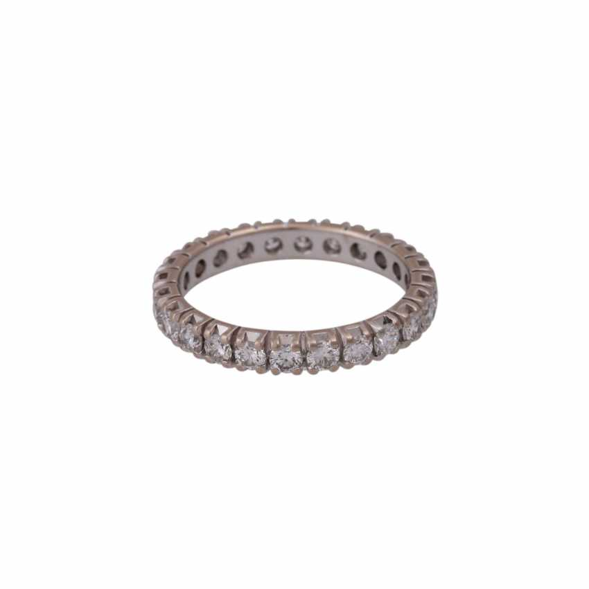 Memory Ring with brilliant-cut diamonds together approximately 1.6 ct - photo 3