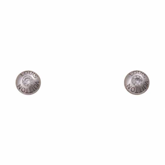 LOUIS VUITTON earrings with brilliant-cut diamonds, together CA. 0,30 ct, - photo 1