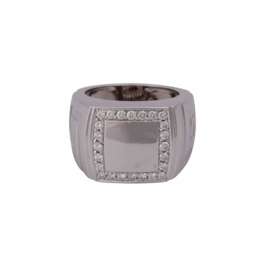 "VERSACE Ring ""Meandros Greca"" with brilliant - photo 1"
