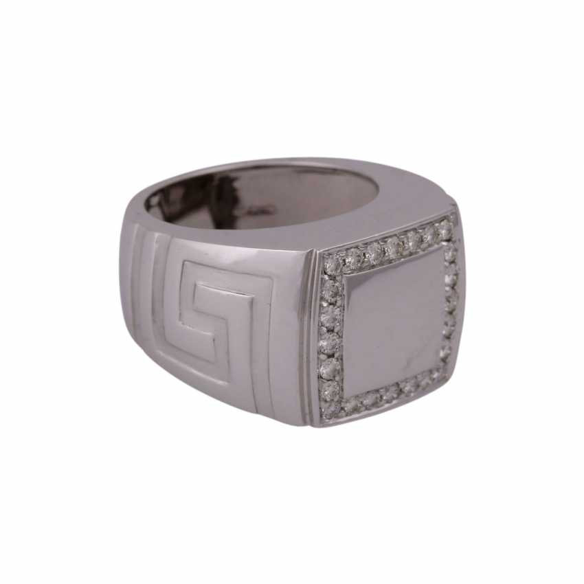 "VERSACE Ring ""Meandros Greca"" with brilliant - photo 2"