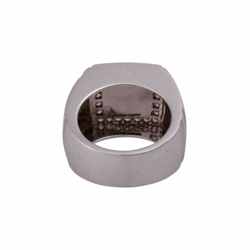 "VERSACE Ring ""Meandros Greca"" with brilliant - photo 4"