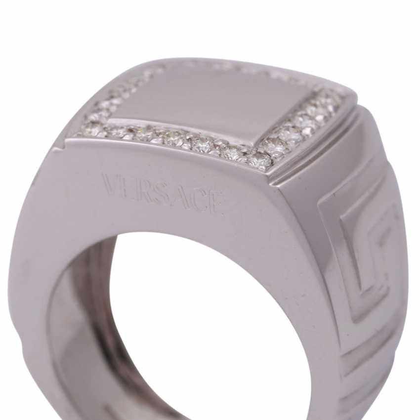 "VERSACE Ring ""Meandros Greca"" with brilliant - photo 5"