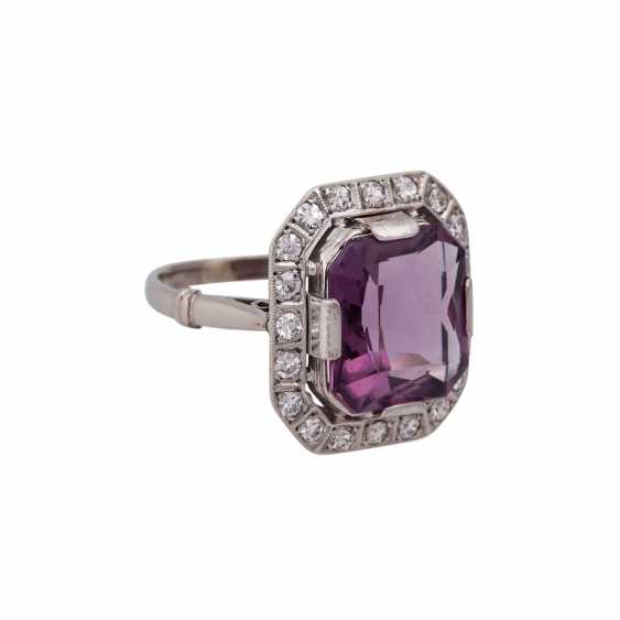 Ring with Amethyst in the octagonal scissor cut, approx. 12x10. 5 mm - photo 2