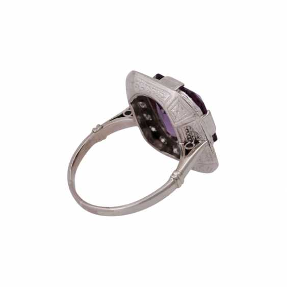 Ring with Amethyst in the octagonal scissor cut, approx. 12x10. 5 mm - photo 3
