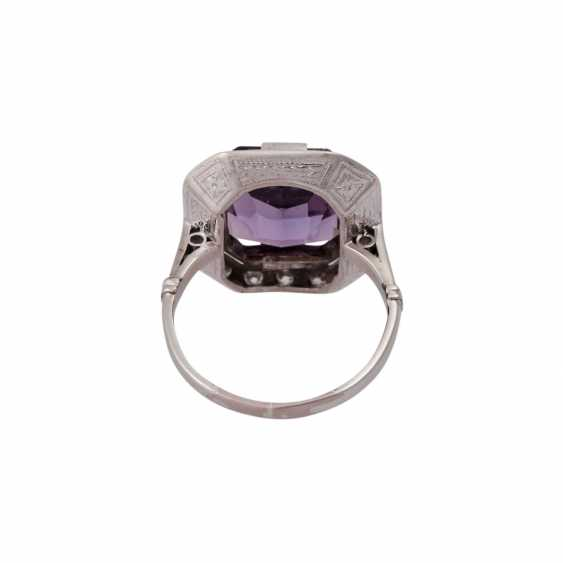 Ring with Amethyst in the octagonal scissor cut, approx. 12x10. 5 mm - photo 4