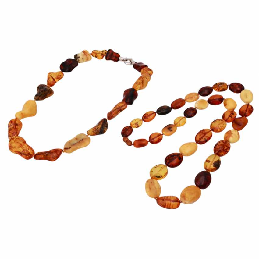 Set of 2 amber necklaces - photo 1
