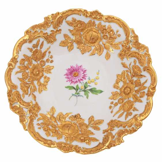 MEISSEN sumptuous dish, 2. Choice, 20. Century. - photo 1